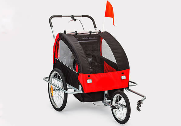 Bicycle Baby Trailer With Rear Absorber