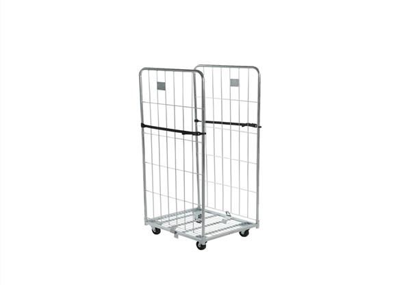 2 sided logistics collapsible storage security wire cage mesh roll container trolley