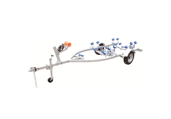 Pontoon Boat Trailer with Wobble Boat Rollers