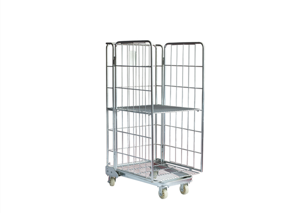 3 Sided Rod Infill Roll Cage Trolley Rak
