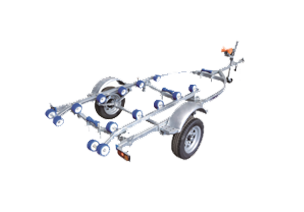 Galvanized Inflatable Boat Trailer with Rollers for Sale