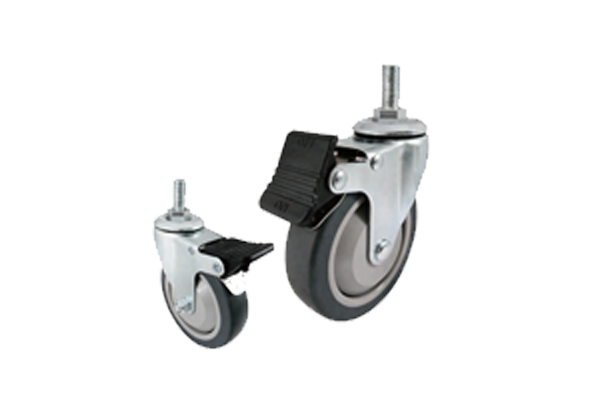 Medical Rubber Caster Wheel with Total Locking