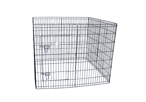 8 Panels Metal Wire Dog Playpen