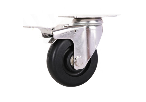 Stainless Steel Total Braked Black Phenolic Wheel