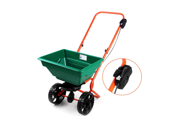 All Season Professional Lawn & Garden Broadcast Spreader Push Edge Guard Cart 25 L Capacity Used For Fertiliser Grit Seed Grass