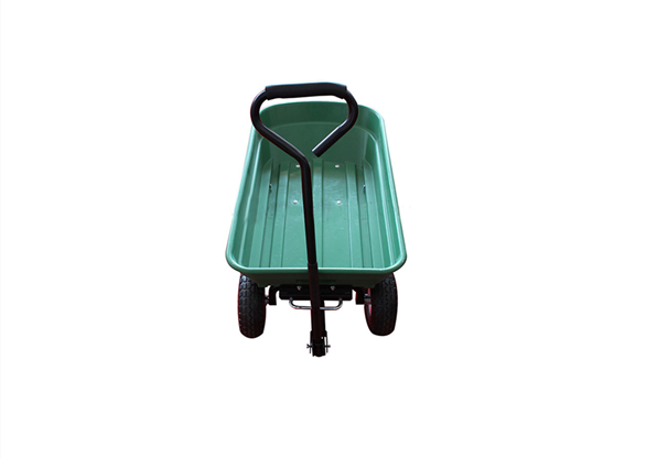 Garden Plastic Handy Folding Push Dump Tool Cart