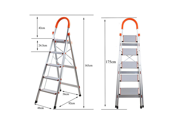 Folding and Moveable Type and Folding Ladders Feature Aluminium Step Ladder