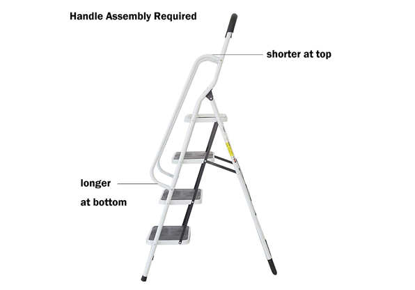 Folding Step Ladder 4 Step Non-Slip Safety Step Stool with Side Handrails